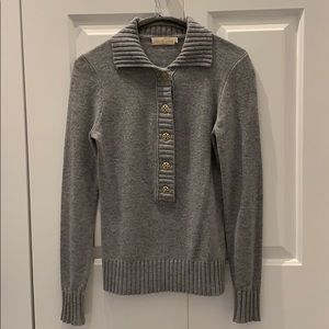 EUC Tory Burch Grey Wool & Cashmere Sweater